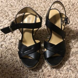 Michael Kors! Black sandals with heels!